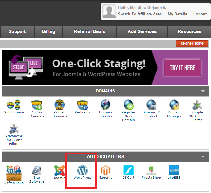 installare wordpress - 2