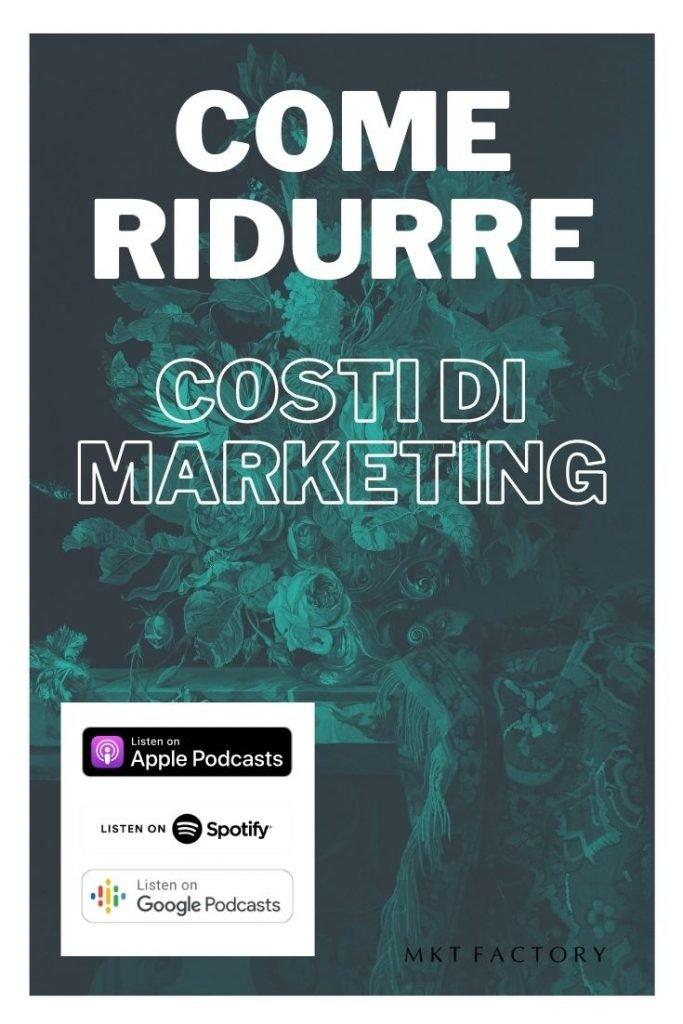 Come ridurre i costi di marketing